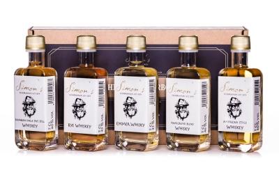 Simon's Whisky Probierbox  5 x 5cl 40-46% vol.