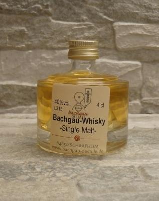 Bachgau-Whisky Single Malt 40% vol. 0,04l