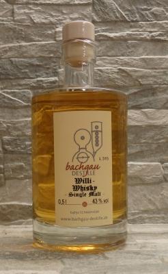 Bachgau-Willi Whisky Single Malt 43% vol. 0,5l
