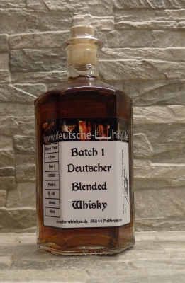 Batch 1 Deutscher Blended Whisky 46%vol.  0.5l