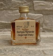 Bachgau-Whisky Highlander Single Malt 46% vol. 0,04l