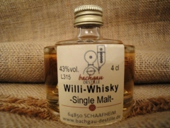 Bachgau-Willi Whisky Single Malt 43% vol. 0,04l